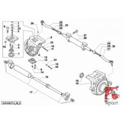 0.900.0083.9 Uszczelniacz półosi napędowej do ciągników Same, Deutz-Fahr, Lamborghini