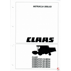 Instrukcja obsługi Claas Dominator
