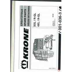 Katalog do przyczepy samozbierającej KRONE XXL/R-GL,  4XL/R-GL