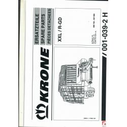 Katalog do przyczepy samozbierającej KRONE  XXL/R-GD