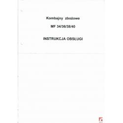 Instrukcja obsługi do kombajnów zbożowych MF 34/36/38/40